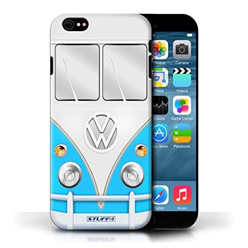 STUFF4 Phone Case / Cover for Apple iPhone 6S / Blue Design / VW Camper Van - Noten Style Van Dries