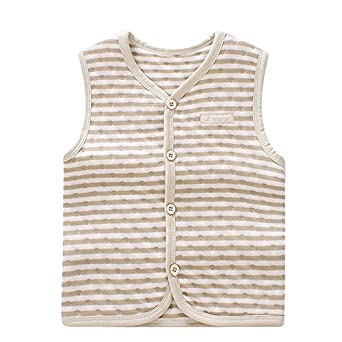 ThreeH Baby Warm Vest Cotton Unisex Infant Toddler Waistcoat BR06 Pack of 2