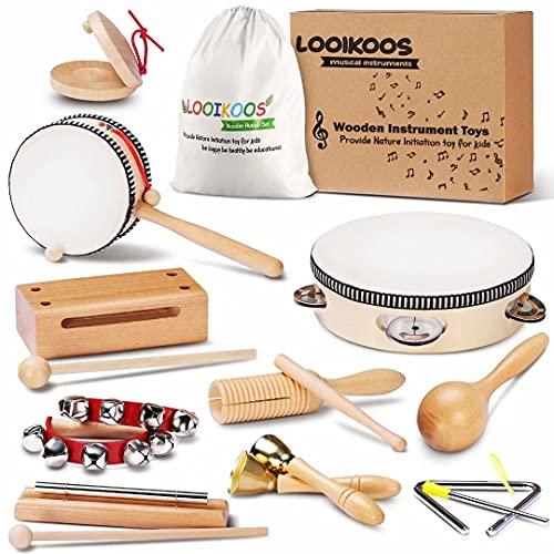 LOOIKOOS Instrumentos de percusión de juguete para niños.
