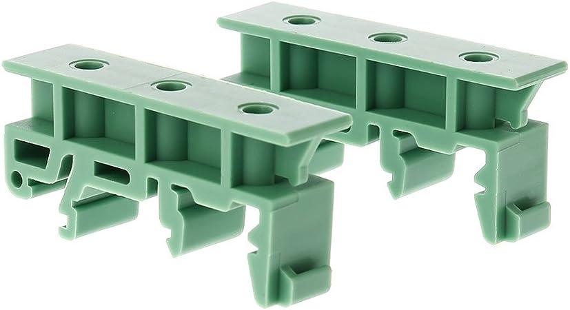 35 mm DIN-Schienen-Board-Halterung. DIN C45 Dasket 10 Sets Leiterplatten-Adapter Befestigungswinkel
