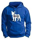 Dog Dad Gifts French Bulldog Love Dog Paw Prints Premium Hoodie Sweatshirt Large Royal