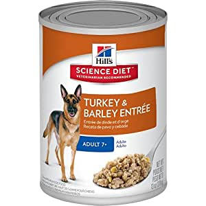 Hill's Science Diet Adult 7+ Turkey & Barley Entree Dog Food, 13-Ounce Can, 12-Pack