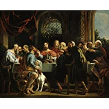 'Jacob Jordaens I - The Last Supper,1655' oil painting, 8x10 inch / 20x25 cm ,printed on Perfect effect Canvas ,this High Definition Art Decorative Canvas Prints is perfectly suitalbe for Powder Room artwork and Home decoration and Gifts