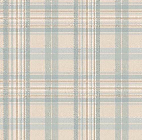 - Chesapeake TOT33029 Austin Light Blue Tartan Wallpaper