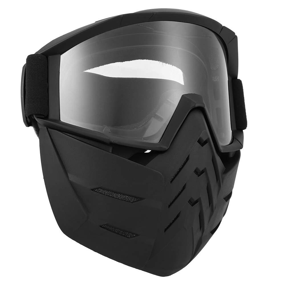 2, Amarillo Lixada Motos Gafas UVA400 Protecci/ón Invierno Esqu/í Gafas de Montar Patinaje Gafas Deportivas con M/áscara Desmontable