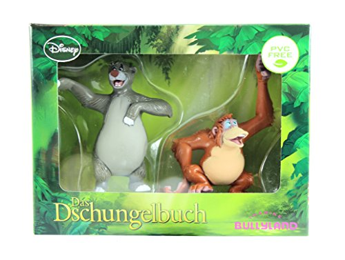 Price comparison product image Bullyland Disney The Jungle Book Baloo & King Louie Figures Cake Toppers In Gift Box