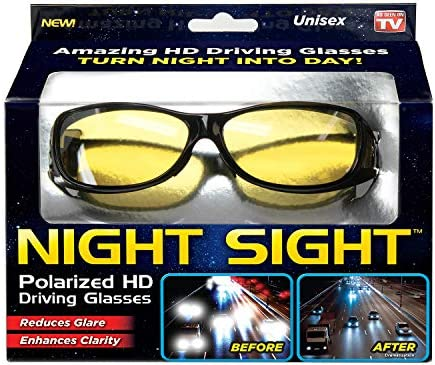 2019 Night Driving vision Glasses Prevention Yellow Driver Sunglasses polarized