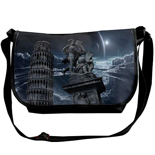 Leaning One Bags Cloud Fashion Bags Bag Shoulder Designer Crossbody Casual Pisa Tower Unisex Black Of 1n00HFqwd