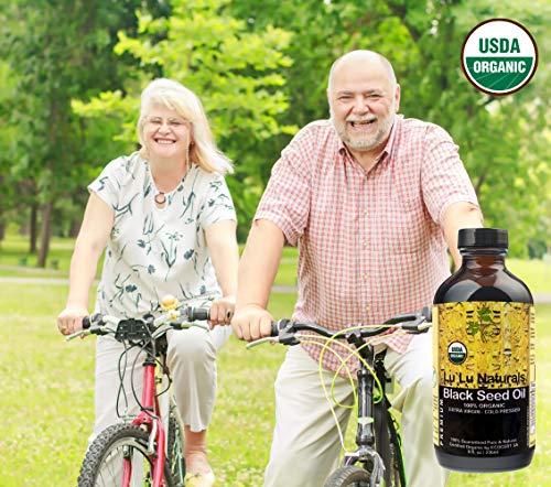Premium Black Seed Oil 8oz 100% Organic USDA Organic Certified, Cold Pressed, Extra Virgin! Made From NON-GMO, Nigella Sativa - Cumin. Promotes: Healthy Blood Cholesterol, Blood Pressure & Sugar Level by Lu'Lu Naturals (Image #4)