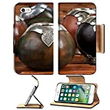 Luxlady Premium Apple iPhone 7 Flip Pu Leather Wallet Case Close up of calabash cups for mate Mate is a traditional drink very similar to tea in Argentina Uruguay Paraguay and some parts o
