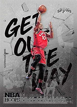 57778d818b6 2018-19 NBA Hoops Get Out The Way Retail Insert #14 DeMar DeRozan San