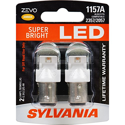 SYLVANIA - 1157 ZEVO LED Amber Bulb - Bright LED Bulb, Ideal for Park and Turn Lights (Contains 2 Bulbs)