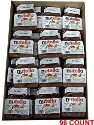 Nutella - Hazelnut Spread, CASE, (96 x .52 oz)) 96 COUNT