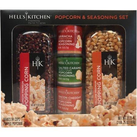 Hells Kitchen Popcorn & Seasoning Set, 5 pc