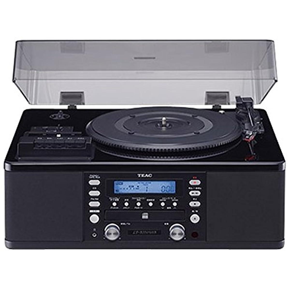 [해외] 티악(Teac)(TEAC) 턴 테이블/카세트 플레이어부CD레코더/레코드 플레이어 (피어노 블랙) LP-R550USB-P/PB