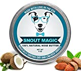 Snout Magic 2X: Get More Less Organic Premium Dog Nose Butter Moisturizer Balm Cream to Cure Sooth Dry Chapped Cracked Rough Crusty Snout - 4oz