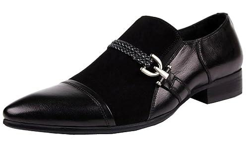 Wuf - Mocasines de Ante para Hombre Negro Negro: Amazon.es: Zapatos y complementos