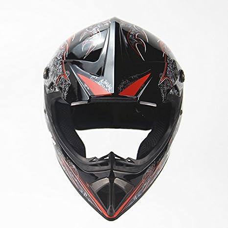 Amazon.com: Ocamo Full Protection Off Road Casco Motorcycle Moto Dirt Bike Motocross Racing Helmet Bright black S: Automotive