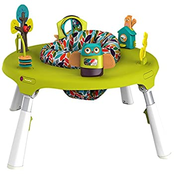 Image of Baby Oribel PortaPlay 4-in-1 Foldable Travel Activity Center, Turn, Bounce, Play, Transform - Forest Friends