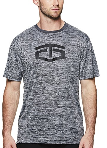 TapouT Men's Short Sleeve Workout & Training T Shirt - Graphic Activewear Crew Neck Tee - Ebony Heather Power, ()