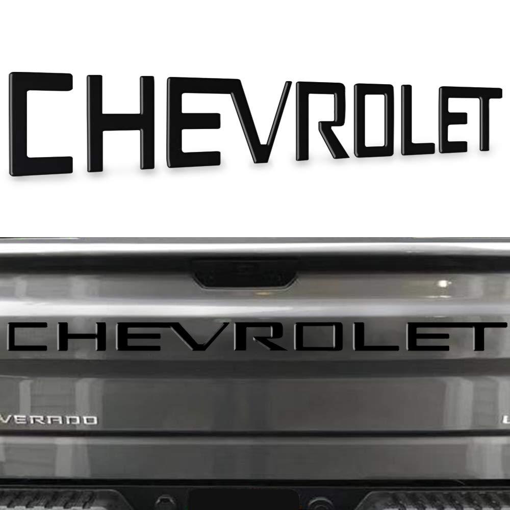KENPENRI Tailgate Insert Letters for 2019 2020 Chevrolet Silverado - 3M Adhesive & 3D RaisedTailgate Letters - Matte Black