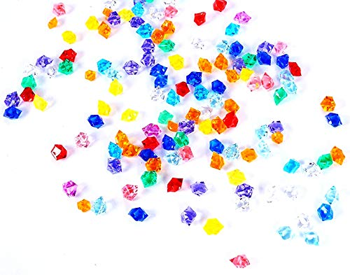 - Bogo Arty Acrylic Crystals Ice Rocks Colored Gem Stones for Vase Fillers, Table Scatter, Party Favor, Wedding Decoration, Arts Crafts (Approx 1000 Pieces, 2/4 inch)