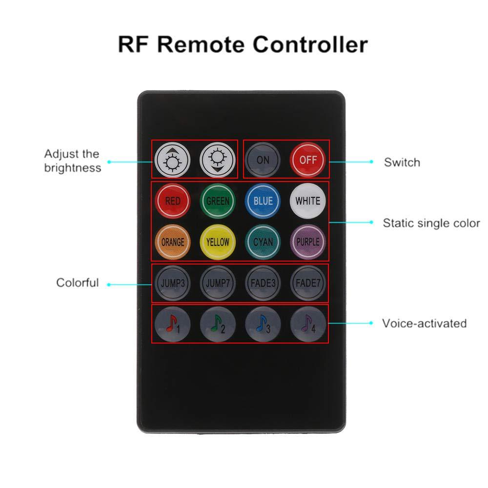 Ruban LED flexible imperm/éable RGB 5050 SMD sous le tube de voiture Underglow Kit de lumi/ère au n/éon avec syst/ème de bas de caisse avec t/él/écommande