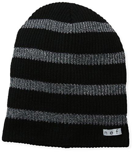 NEFF Women's Daily Sparkle Stripe Beanie, Black, One Size ()