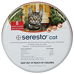 Bayer Seresto Flea Tick 8 Months Collar for Cats