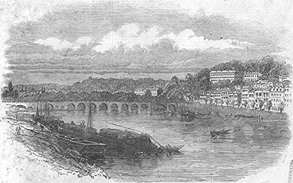 Amazon com: FRANCE  St Cloud - 1855 - old antique vintage print