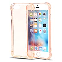 iPhone 6S Plus Cases iPhone 6 Plus Covers CaseHigh Shop Flip Case Solid Acrylic Back-Reinforced Soft TPU Frame Ultra-Slim Shock-Absorption Bumper For iPhone 6S Plus/6 Plus (Rose Gold)