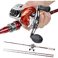 Sougayilang 2-Piece Baitcasting Fishing Rod with Fishing...