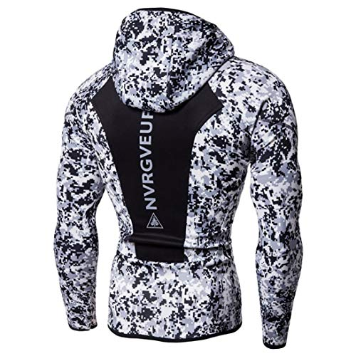 Blanc2 Fitness Sweat Blouse Peau Manches Magiyard Bodybuilding Hoodie Tops shirts Mens T shirt Longues q6xwaSxg
