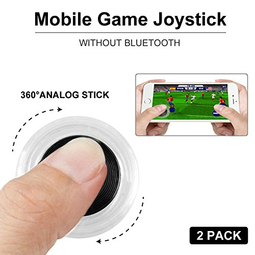 Mobile Phone Game Joystick - Game Control Touch Screen Joypad Game Controller for Tablet/iPhone/iPad/Android 2PACK