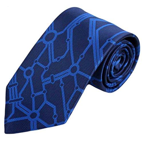 MENDENG Men Abstract Print Jacquard Woven Silk Tie Business Wedding Red Necktie