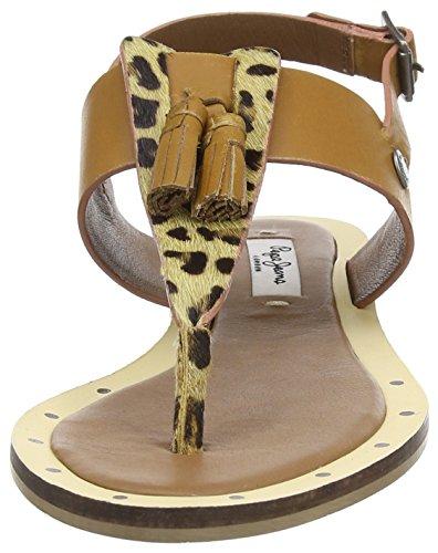 Pepe Jeans Gayton Tassels - Sandalias de Gladiador Mujer Marrón