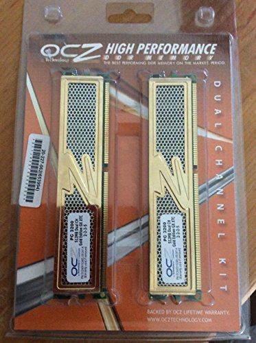 Ocz Dual Memory (OCZ ocz4001024elgegxt-kPC 3200 512mb dual ch. gold edition GX XTC 2-2-2-5 SET of 2)