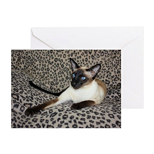 (CafePress - Seal Point Siamese Cat With Beautifu - Greeting Card, Note Card, Birthday Card, Blank Inside Glossy)