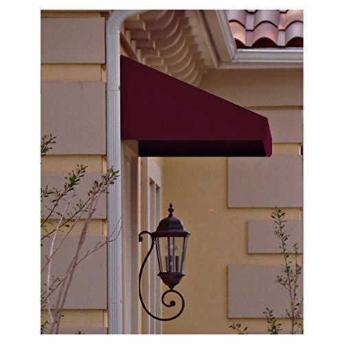 Awntech 3-Feet New Yorker Window Entry Awning, 16-Inch Height by 30-Inch Diameter, Black