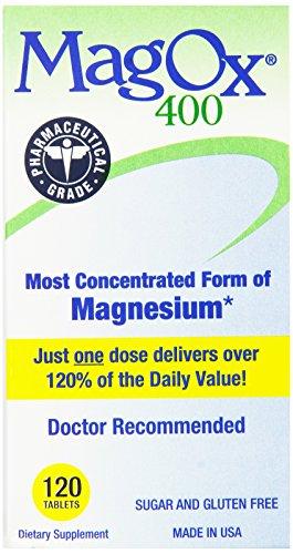 MagOx 400 Магний Дополнение Таблетки, 482,6 мг, 120-Count бутылки (комплект из 2)