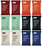 RxBar Real Food Protein Bars Coffee Free Variety Pack, 6 Flavors (Pack of 12)