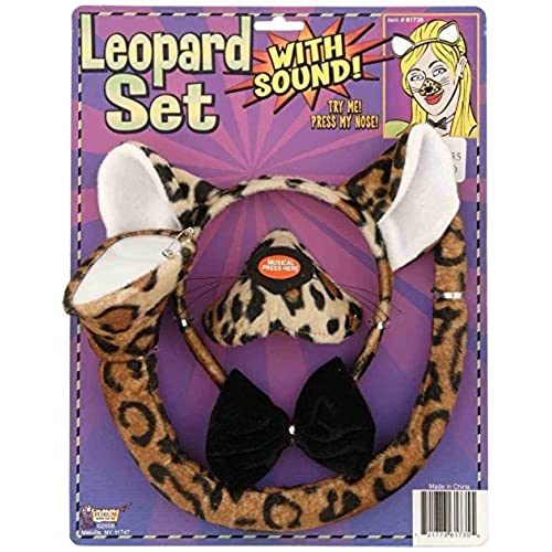 Forum Novelties Animal Costume Set Leopard Nose Tail with Sound Effects  sc 1 st  Amazon.com & Cheetah Costume Accessories: Amazon.com