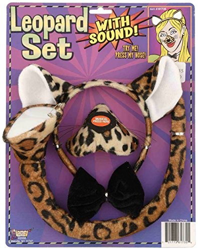 Forum Novelties Animal Costume Set Leopard Nose Tail with Sound Effects]()