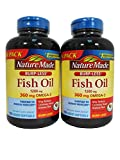 Cheap Nature Made Burp-Less Fish Oil 1200 mg, 360 mg of Omega 3, 150 Liquid Softgels (2 Pack)