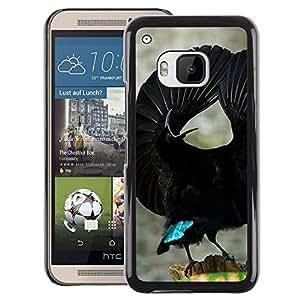 A-type Arte & diseño plástico duro Fundas Cover Cubre Hard Case Cover para HTC One M9 (Bird Tropical Black Flight Ornithology)