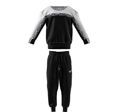 Adidas - Chándal Infantil Blanco/Negro 6 años: Amazon.es: Ropa y ...