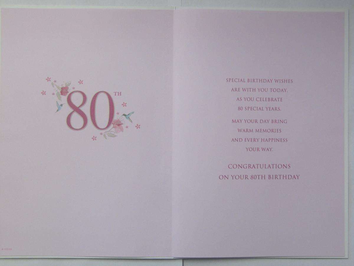 STUNNING TOP RANGE BEAUTIFULLY WORDED MUM 80 TODAY 80TH BIRTHDAY GREETING CARD Amazoncouk Kitchen Home