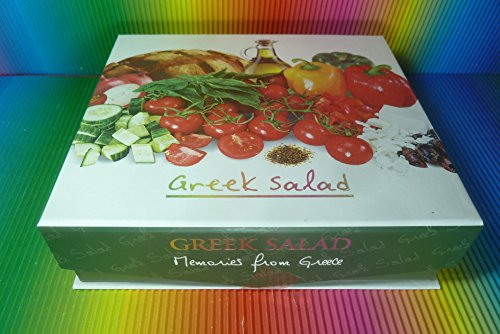 GREECE GREEK SALAD GIFT BOTTLE SET OLIVE OIL 50ML,VINEGAR 20ML,SALT 40g,HERBS by GREECE GREEK SALAD GIFT BOTTLE
