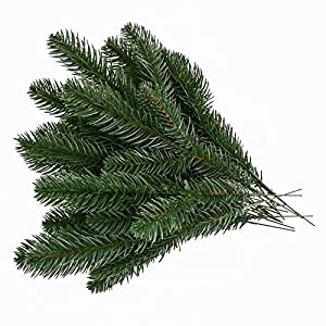 EchoDone 20pcs Artificial Pine Picks Garland for Christmas Pine Branches Flower Arrangements Wreaths and Holiday Decorations