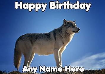 Carte Anniversaire Loup.Joyeux Anniversaire Loup Personnalise Carte De Vœux Codefd